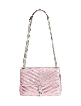 Edie Metallic Leather Shoulder Bag by Rebecca Minkoff