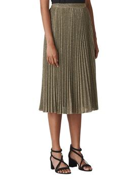 Sparkle Pleated Midi Skirt by Whistles