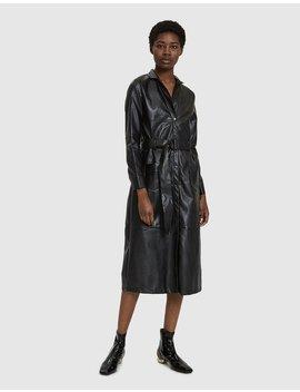 Talia Faux Leather Coat by Farrow