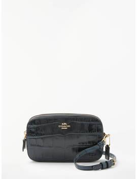 Coach Croc Cross Body Bag, Midnight Navy by Coach