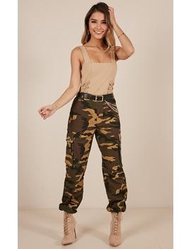 Bangin Pants In Green Camo Print by Showpo Fashion
