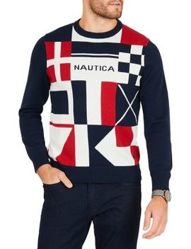 Classic Fit Long Sleeve Sweater by Nautica