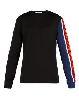 Chenille Embroidered Cotton Jersey Sweatshirt by Givenchy
