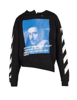 Bernini Print Cotton Jersey Sweatshirt by Off White