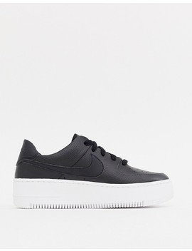 Nike Black Air Force 1 Sage Sneakers by Nike