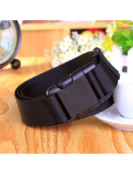 New Black Belt Adjustable Tactical Military Combat Web Belt Plastic Buckle by Unbranded