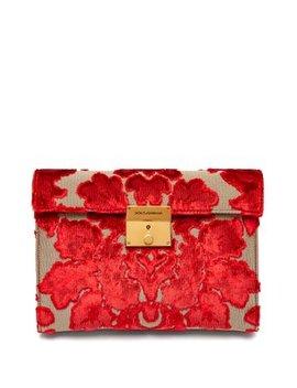 Pochette Velvet Brocade Envelope Clutch by Dolce & Gabbana