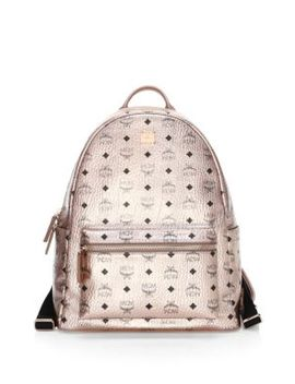 Medium Stack Logo Backpack by Mcm
