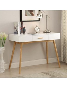 Convenience Concepts Oslo One Drawer Desk by Convenience Concepts