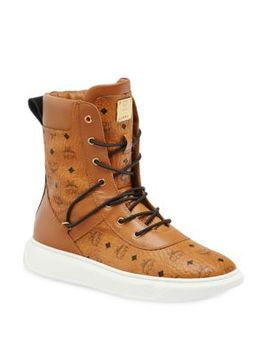 Visetos High Top Logo Boots by Mcm