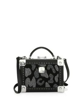 Small Berlin Leopard Crystal Crossbody by Mcm
