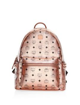 Small Medium Stark Metallic Backpack by Mcm