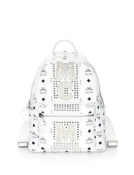 Stark Stud Stripe Coated Canvas Backpack by Mcm
