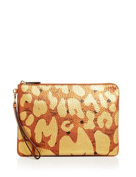 Stark Leopard Print Medium Pouch by Mcm