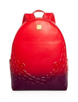Degrade Laurel Ombré Leather Backpack by Mcm
