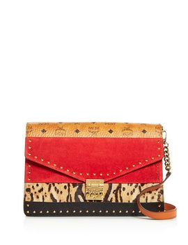 Patricia Mixed Media Large Convertible Clutch by Mcm