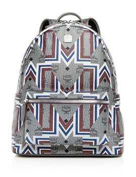 Stark Gunta Visetos Logo Print Medium Backpack by Mcm