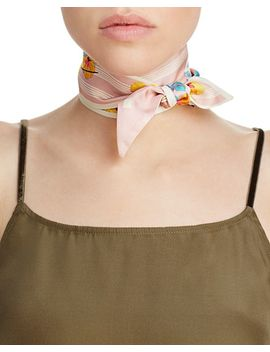 Visetos Flower Twilly Silk Scarf by Mcm