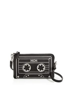 Cassette Small Convertible Leather Crossbody by Mcm