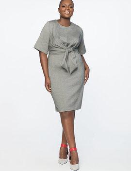Tie Front Work Dress by Eloquii