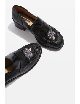 Krayon Embroidered Loafers by Topshop