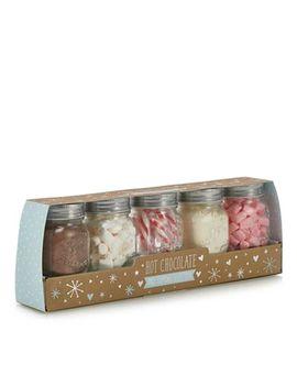 Debenhams   Hot Chocolate And Toppings Mason Jar Set by Debenhams