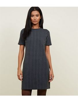 Grey Houndstooth Check Tunic Dress by New Look