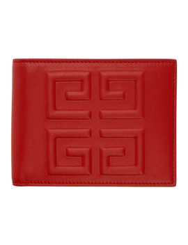 Red 4 G Logo Wallet by Givenchy