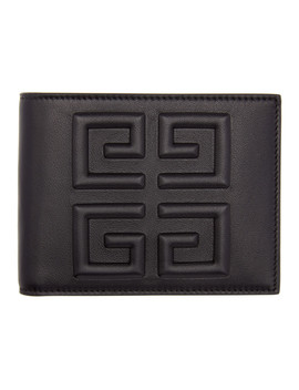 Black Debossed 4 G Wallet by Givenchy