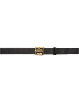 Black Engraved 4 G Belt by Givenchy