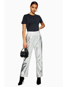 Pu Track Pants by Topshop
