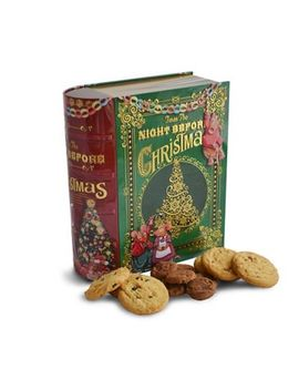 Debenhams   'twas The Night Before Christmas' Large Book Shaped Novelty Biscuit Tin   400g by Debenhams