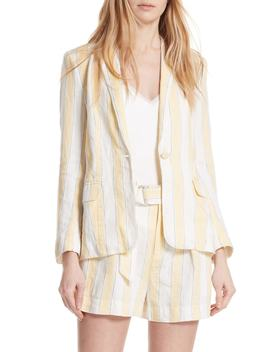 Stripe Linen Blazer by Frame Denim