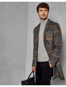 Checked Overcoat by Ted Baker