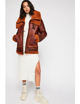 We The Free Maverick Shearling Coat by Free People