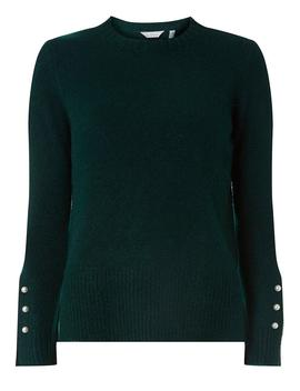 Petite Dark Forest Cuff Detail Jumper by Dorothy Perkins