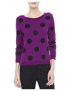 Celyn Sequin/Polka Dot Sweater by Alice + Olivia