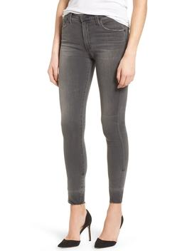 The Farrah High Waist Raw Hem Skinny Jeans by Ag