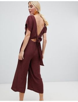 Whistles Margot Polka Dot Jumpsuit With Wrap Back by Whistles