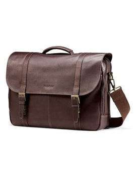 Samsonite Colombian Leather Flapover Laptop Case by Kohl's