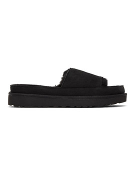 Black Uggs Edition Shearling Slides by Y/Project
