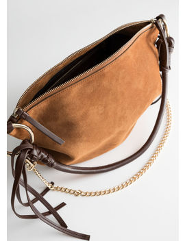 Suede Hobo Tote Bag by & Other Stories