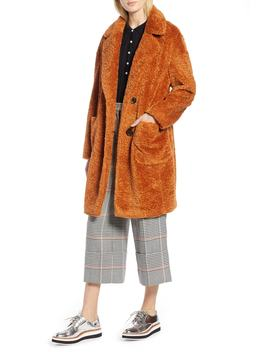 X Atlantic Pacific Faux Fur Coat by Halogen®