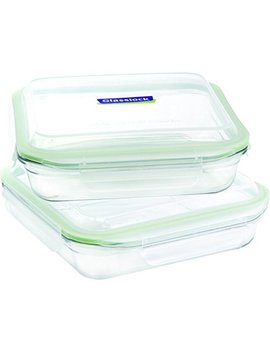 Glasslock 4 Piece Oven Safe Bakeware Square Set, 9 By 9 Inch by Glass Lock