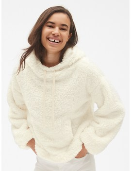 Teddy Funnel Neck Pullover Hoodie by Gap