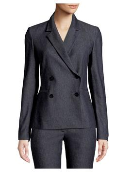Double Breasted Twill Blazer by Theory