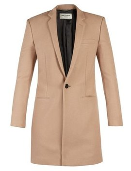 Single Breasted Cashmere Coat by Saint Laurent