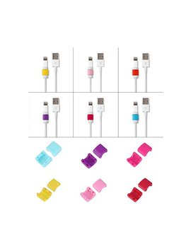 24pcs I Ffree Lightning Charger Cable Saver Protector For Apple I Phone Laptop Macbook Charge Cable Saver And Fixer Charge Cable Saver And Fixer. by I Ffree