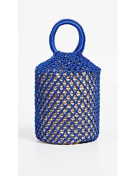 Macrame Straw Bucket Bag by Sensi Studio