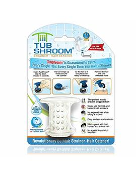 Tub Shroom Tswht454 The Revolutionary Tub Drain Protector Hair Catcher/Strainer/Snare, White by Amazon